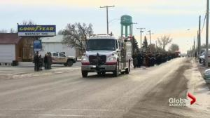 Over 300 firefighters pay tribute to Rosetown volunteer firefighter Darrell Morrison