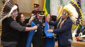 Troy Cooper sworn in as Saskatoon police chief, embraced by Indigenous community