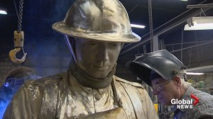 Cochrane sculptors create statue of soldier to commemorate Vimy Ridge anniversary