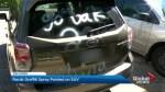Racist graffiti spray painted on Toronto man's SUV