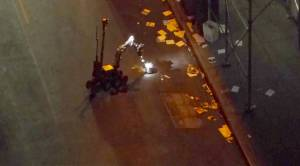 Raw video: robot secures unexploded bomb in NYC, puts it into chamber