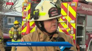 Fire officials update on house fire in southeast Calgary