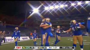 Winnipeg Blue Bombers quarterback, receiver have deep roots off the field