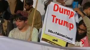Anti-Trump protesters in Pakistan call U.S. President's tweet 'lies and deceit'