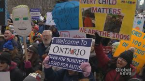 Parents, therapists loudly rally outside Queen's Park