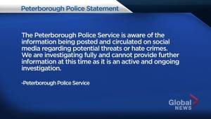 Peterborough police investigating social media post of hate speech