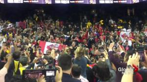 NBA Finals: Raptors fans sing O Canada in Oracle Arena following Game 4 win over Warriors