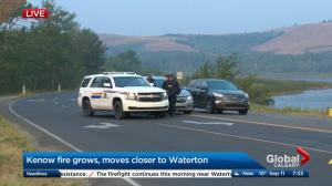 Kenow Mountain wildfire moves closer to Waterton Lakes National Parks