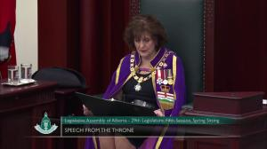 Alberta throne speech touts protecting health care and defending public education