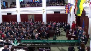 Springbank dam mention receives applause during throne speech