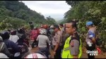 Landslide causes major traffic jam in Indonesia's West Sumatra province