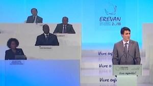 Prime Minister Justin Trudeau praises Michaëlle Jean at Francophonie summit