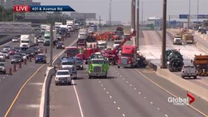 Fatal crash, fire on 401 shuts down highway
