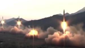 North Korea fires short-range missiles into sea of Japan