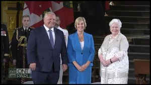 Laurie Scott sworn in as Minister of Labour