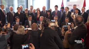 Energy industry leaders sign documents for LNG export facility