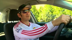 Caught on video: Shocking cyclist road rage