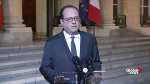 Francois Hollande offers condolences to family of police shot in Paris