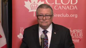 Goodale says they're working on descriptors of terrorism after report draws anger