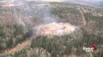 Aerials show aftermath of Enbridge pipeline explosion near Prince George