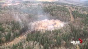 Aerials show aftermath of Enbridge pipeline explosion near Prince George (01:00)