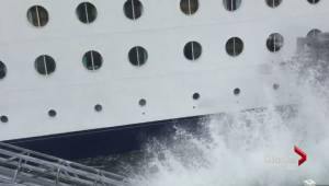 Cruise ship hits dock in Alaska