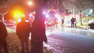 Dozens are homeless after a low income apartment building in Vancouver catches fire