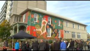 New mural adorns wall of YES Shelter for Youth and Families