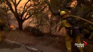 California's largest wildfire burns through Christmas