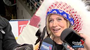 Premier Rachel Notley honoured with Blackfoot name, headdress