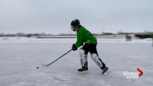 61 teams hit the ice for huge pond hockey tournament in Chestermere