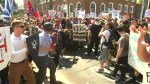 Clashes break out ahead of nationalist rally in Charlottesville