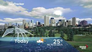 Edmonton early morning weather forecast: Thursday, July 19, 2018