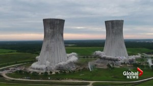 Florida power plant cooling towers implode