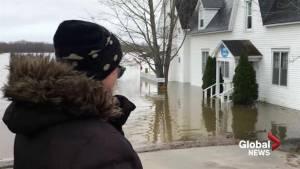 Flood waters reaching unprecedented heights in Gagetown