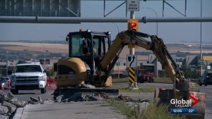 Stoney Trail/Sarcee Trail interchange improvements nearly completed