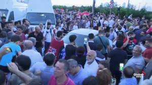 Supporters react as Imamoglu declares victory in high-stakes Instabul