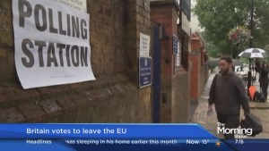 An update from London after Britain votes to leave the EU