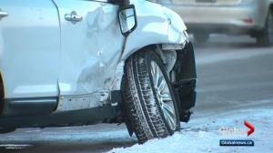 Police respond to dozens of crashes as Edmonton remains mired in deep freeze