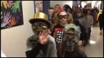 Zombie walk at Peterborough public school