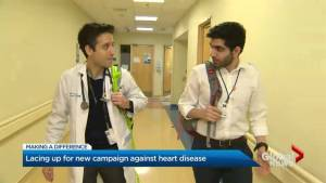 Making a Difference – 2 medical colleagues running to raise awareness, funds for heart failure research (02:38)