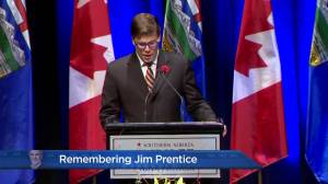 Remembering Jim Prentice: 'We mourn with you' (00:55)