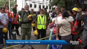 New aftershocks leaving Mexico in a state of fear and exhaustion