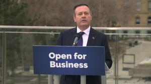 Premier-designate Jason Kenney speaks to Edmonton