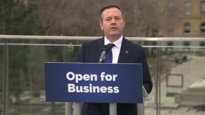 Premier-designate Jason Kenney speaks to Edmonton (01:42)