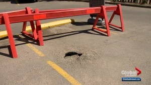 More sinkholes popping up around Calgary