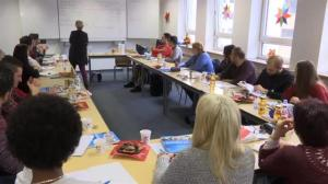 Refugees in Germany attend class to learn about Christmas traditions