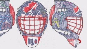 Calgary boy hoping for victory in goalie mask 'Battle of Alberta'