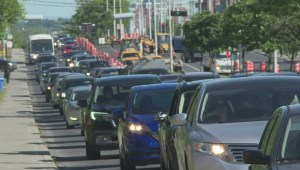 Traffic nightmare begins on St-Jean Boulevard