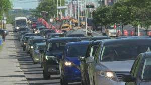 Traffic nightmare begins on St-Jean Boulevard